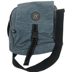Kipling Ash Blue Nylon Medium Crossbody Bag